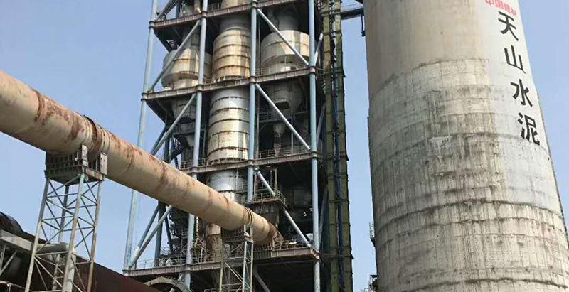 管道加热器用于水泥厂现场
