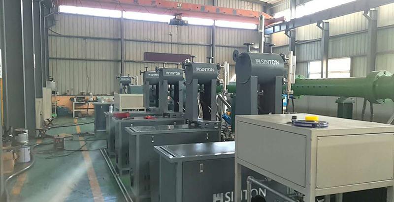 导热油加热器用于厂房升温现场