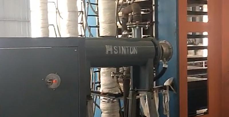 导热油炉用于压板机升温现场